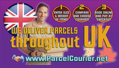 Parcels delivered through the United Kingdom